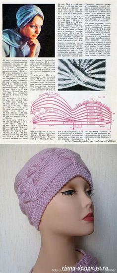 Шапочка-чалма. Подборка | вязание | Постила