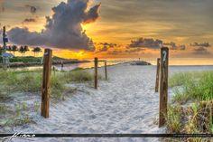 Boca Inlet Raton Florida Beach Sunrise