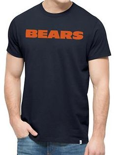 1eac2cc36 Chicago Bears 47 Brand Fall Navy Crosstown MVP Soft Cotton T-Shirt Chicago  Blackhawks Logo