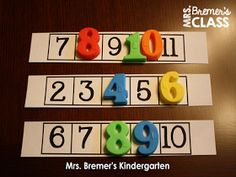Math Center: missing numbers