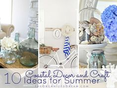 10 Coastal Decor and Craft Ideas for Summer - The Organized Dream