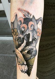 Joanna Swirska Dzo Lama dog tattoo