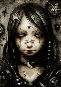 Explore the shichigoro-shingo collection - the favourite images chosen by VijayVega on DeviantArt. Cyberpunk Kunst, Cyberpunk Girl, Painting Inspiration, Art Inspo, Art Quotidien, Arte Steampunk, Art Noir, Arte Horror, Painting Process