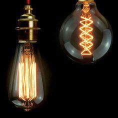 vintage lampen e27 e14 gl hbirne st64 g80 gl hlampe k figl ufer carbon lampe retro edison licht. Black Bedroom Furniture Sets. Home Design Ideas