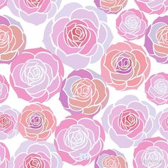 'pink beautifuol floral pattern' by Chris olivier Framed Prints, Canvas Prints, Art Prints, Dresses With Leggings, Wall Tapestry, Decorative Throw Pillows, Art Boards, Frames, Backgrounds