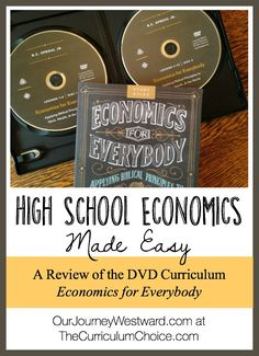 Economics for Everybody is a DVD-based high school course that can be used alone for credit and with recommended resources for a full credit. Study Of Economics, Teaching Economics, Economics Lessons, Basic Economics, Kindergarten Homeschool Curriculum, High School Curriculum, Homeschool Curriculum Reviews, Homeschooling, High School Courses