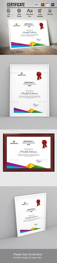 Free Award Templates For Word Certificate  Certificate Template And Certificate Design