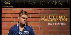 """De poster die aankondigde dat """"La tête haute"""" het filmfestival zou openen"""