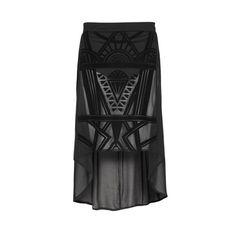 Flocked panel skirt, £16, in store November, Primark