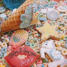 ➳♡゛ · · · · ふわふわ系 かわいい〜ゆめかわ 原宿行きたい〜(*´꒳`*)゚*.・♡ · · · #幸せのレシピスイート  #原宿系 #sweets #colorful  #デコパ #デコパフェ  #cute #オリジナル #icecream  #cookies #chocolate #l4f #l4l #likeforlike #likeback  #like4like #instalike #instafood