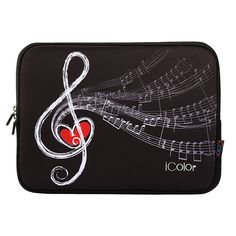 """iColor Music Notes 9.7 10.1 10.2 Tablet Laptop Neoprene Sleeve Case, also have the size for 11.6"""" 12"""" 13.3"""" 15.6"""" 17.3"""" laptop. See More Details in this LINK:  https://www.amazon.com/dp/B0192WACS6/ref=cm_sw_r_pi_dp_x_Fi5Tyb45BXKP5"""