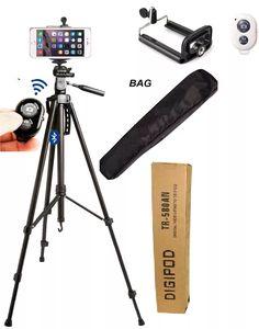 tripé 1,80cm camera bluetoot adaptador celular iphone galaxy