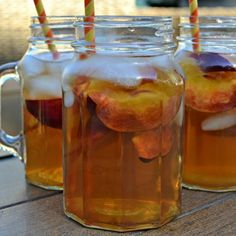 Peach Tea #peach iced tea #peach green tea #iced peach green tea lemonade #justapinchrecipes