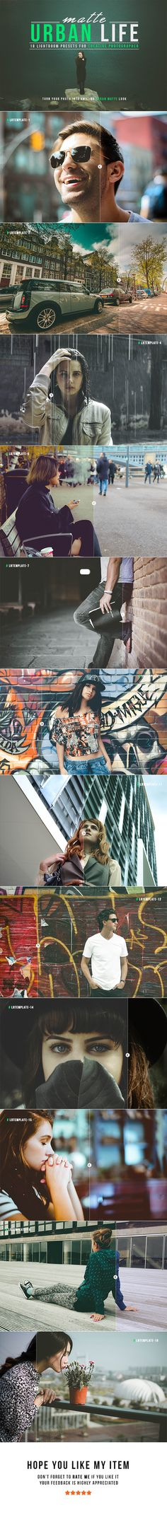 Matte Urban Life Lightroom Presets - Lightroom Presets Add-ons