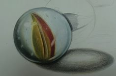 How to draw a marble, by Lee Hammond. ^ch #drawing #marbles