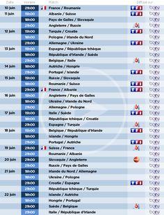 TF1, M6, TMC et beIN Sports diffusent ensemble les 51 matchs de l'Euro 2016 de football qui a lieu en France du 10 juin au 10 juillet....