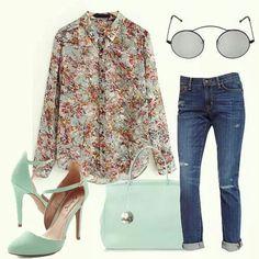 Camisa de flores + jeans