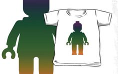 """""""Minifig [Large Rainbow 3] by Customize My Minifig"""" Kids Clothes by ChilleeW 
