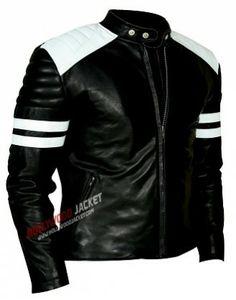 Fight Club Mayhem Black Leather Jacket