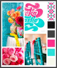 Lizzy B Loves visual + sparkle = inspiration : vibrant, beachy visual inspiration perfect for a summer wedding. #wedding_inspiration #wedding_color_palette #color_palette_inspiration