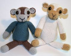 Old School Monkey Amigurumi by Knotty's Amigurumi