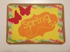 Spring - Thank You card, Silhouette Cameo