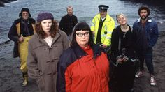 'WILD WEST' (2014) | Cast photo. 'Strange things happen in St Gweep. Most of the sitcom was filmed in Portloe' in Cornwall. 'The small Cornish town is host to all manner of odd occurrences, in Simon Nye's dark comedy. Dawn French and Catherine Tate star as Mary and Angela - a tempestuous lesbian couple, who will do anything to preserve their village from the hordes of holiday home buyers and thrill-seeking bungee-jumpers. Pretty much all outsiders are a target for suspicion.'     ✫ღ⊰n