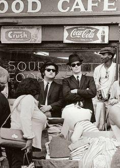 John Belushi and Dan Aykroyd - 'The Blues Brothers', 1980.