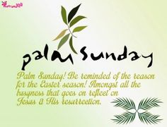 Palm Sunday Sayings