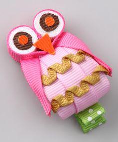 Look what I found on #zulily! Picki Nicki Hair Bowtique Pink Owl Clip by Picki Nicki Hair Bowtique #zulilyfinds