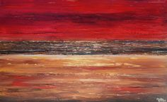 GICLEE PRINT Art of Abstract Red Painting Acrylic Large Art