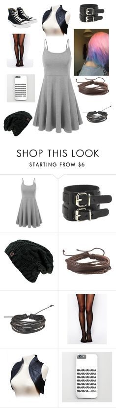"""""""Untitled #140"""" by aj-the-creepypasta ❤ liked on Polyvore featuring Zodaca, Wolford and Converse"""