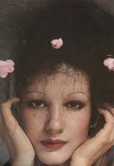 November 1973 - Paris Vogue. Isabelle Weingarten by Guy Bourdin.