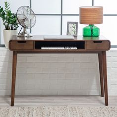 Belham Living Carter Mid Century Modern Writing Desk - Desks at Hayneedle