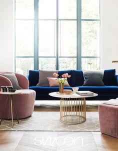 Il rosa in un interno in stile moderno design Outdoor Furniture Sets, Outdoor Decor, Couch, Design, Home Decor, Pink, Settee, Decoration Home, Sofa