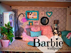 alrighty kiddos….today we are having a barbie party! yippee….. we love barbies. i played them until i was entirely too old for them… and my daughters are now turning into little barbie lovers as well! anyways..i made them a barbie house out of shelf–(you can go HERE to read about it all) but a month …