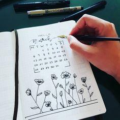 "89 Likes, 6 Comments - V I V I A N    D O A N (@dhs_dzi) on Instagram: ""March  = Spring starts  still practicing with C-3 nib ✍ i like it a lot  #bulletjournal #bujo…"""