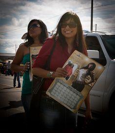 Calendar girl at Navajo Nation Parade