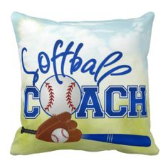 Softball Coach Pillow