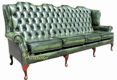 Green Leather Sofa, Leather Sofas, Love Seat, Couch, Photos, Furniture, Home Decor, Leather Couches, Settee