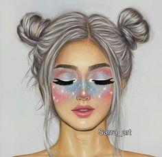 92 imagens sobre Girly_M no We Heart It Cute Girl Drawing, Cartoon Girl Drawing, Girl Cartoon, Tumblr Drawings, Girly Drawings, Cartoon Kunst, Cartoon Art, Sarra Art, Dibujos Tumblr A Color