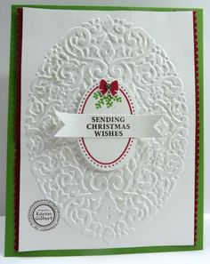 Simply Said with Karen: Tuesday Tips and Techniques - How to Conquer Stamping Christmas Greeting Cards, Christmas Wishes, Holiday Cards, Joyous Celebration, Diy And Crafts, Paper Crafts, Christmas Projects, Stampin Up Cards, Handmade Christmas