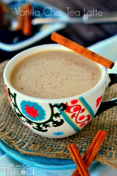 Comfort in a cup! Now you can make your own Vanilla Chai Tea Latte at home with this easy and delicious recipe!