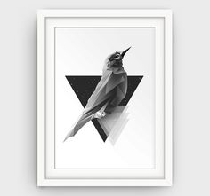 Geometric Print Modern Minimalist Triangle Print by GalliniDesign Instant Download Simple as 1,2,3 only 5$