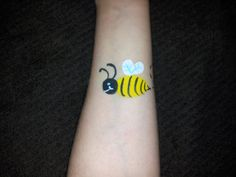 Cheek Face Painting Ideas | Arm & Cheek Designs - Bumble Bee Face Painting