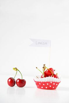 Cherry Place Cards