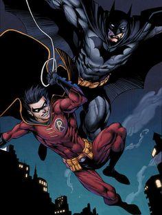 Batman and Robin Tim Drake Batwoman, Nightwing, Batgirl, Dc Comics Art, Batman Comics, Teen Titans Robin, Tim Drake Red Robin, Univers Dc, Batman The Dark Knight