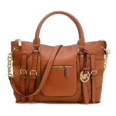 Michael Kors Leigh Large Brown Satchel
