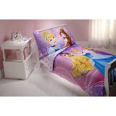 Disney Princess Dress to Shine 4 Piece Toddler Bedding Set 5711416,    #Disney_5711416