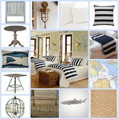 Love all of it! Except maybe the wallpaper  Coastal Home: interiors